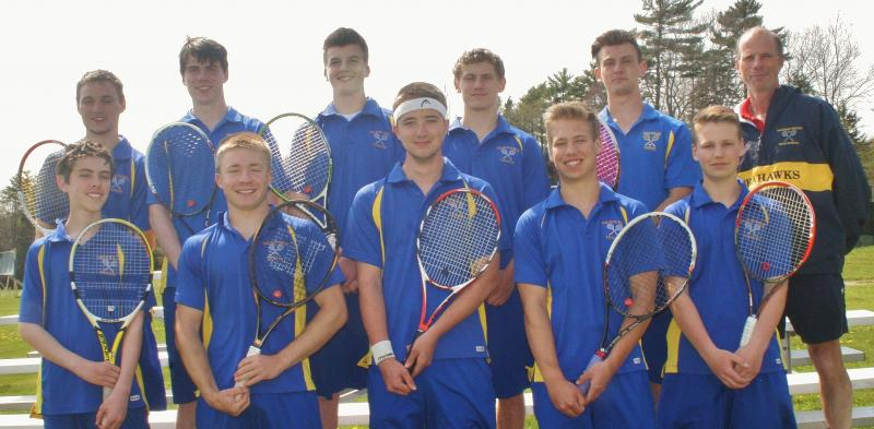 The 2016 Boothbay Region High School boys tennis team. Pictured from ...